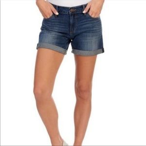 Lucky Brand The Roll Up High Rise Denim Shorts